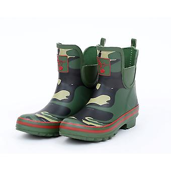 Evercreatures Womens Ankle Wellies - Bright Camo Meadow