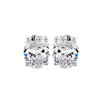 925 Sterling Silver Stud brincos oval