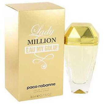 Lady Million Eau My Gold By Paco Rabanne Eau De Toilette Spray 2.7 Oz (women) V728-515824