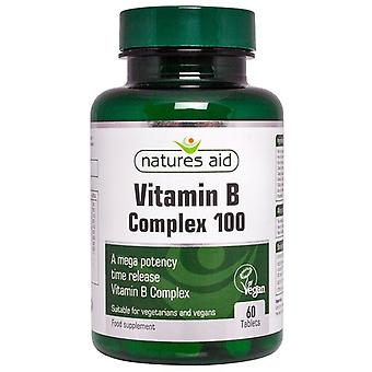 Nature's Aid Vitamin B Complex 100 Time Release (Mega Potency) Tablets 60 (121020)
