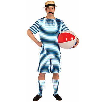 二十世纪二十年代二十世纪三十年代海滨克莱德复古泳滩泳衣男装服装
