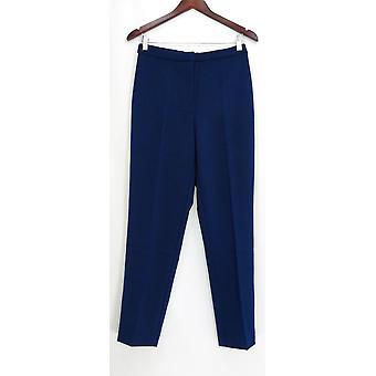 Susan Graver naisten ' s housut kaupunki venyttää edessä zip sininen A279776
