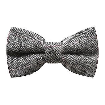Luxe visgraat tinnen grijs strikje, Tweed