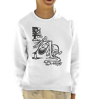 Grimmy Looking For Presents Kid's Sweatshirt