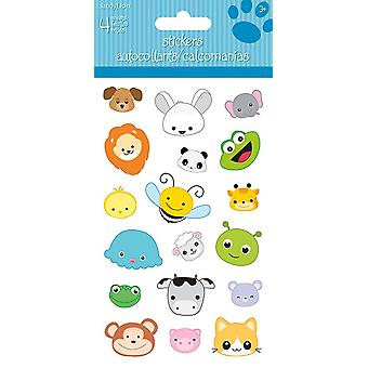 Standard Stickers 4 sheet - Animal Heads - Stationery New st4131