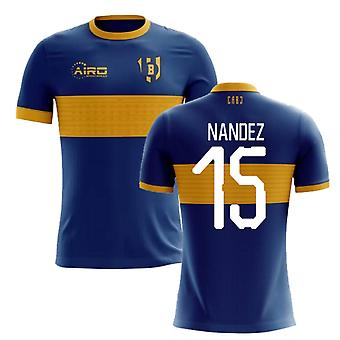 2020-2021 Boca Juniors Home Concept Football Shirt (Nandez 15)