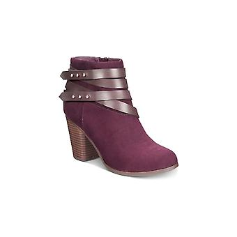 Material Girl Womens Mini Fabric Almond Toe Ankle Fashion Boots