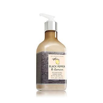 Bath & Body Works Black Pepper & Lemon Săpun de mână cu ulei de măsline 10 oz / 295 ml (Pachet de 2 )