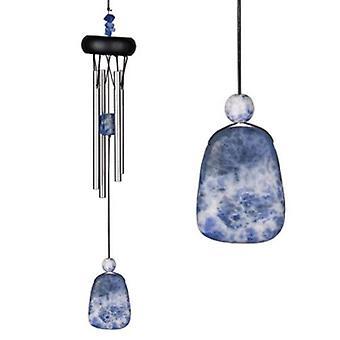 Lapis Lazuli Precious Stone Wind Chime from Woodstock