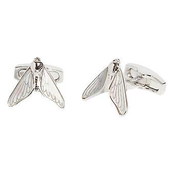 Simon Carter Darwin Moth Cufflinks - Silver