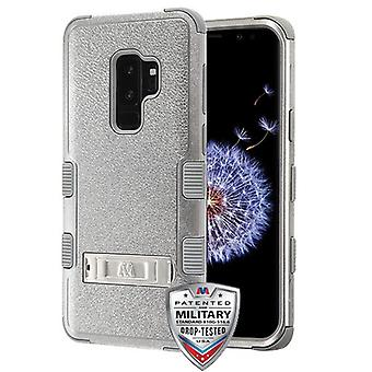 MYBAT Textured Copper Grey/Iron Gray TUFF Hybrid Case(w/ Stand) pour Galaxy S9 Plus