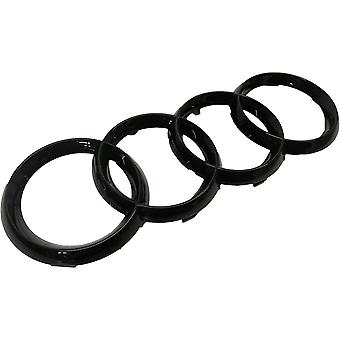 Gloss Black Front Grill Badge Emblem Audi A3 S3 RS3 A4 A5 A6 S 273x94mm
