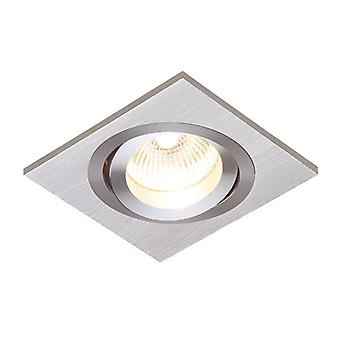 Saxby Lighting Tetra 1 Light Recessed Downlight Brushed Silver Anodised 52403