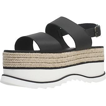 Gele sandalen Gala kleur zwart