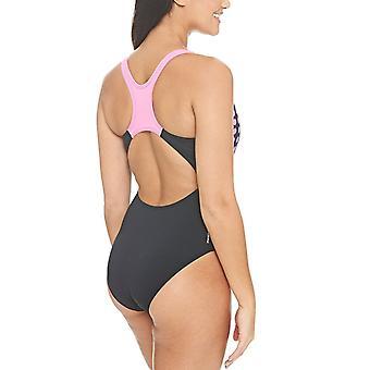 Zoggs Femme Sphere Actionback Maillot de bain Swimming Pool Maillot de bain - Noir/Rose