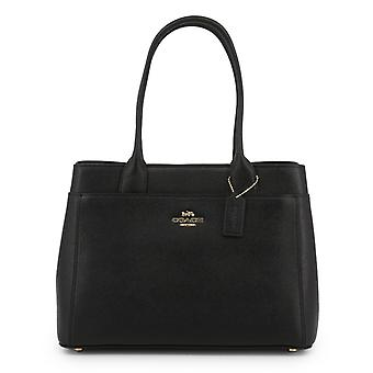 Coach women's leather shoulder bag black f31474