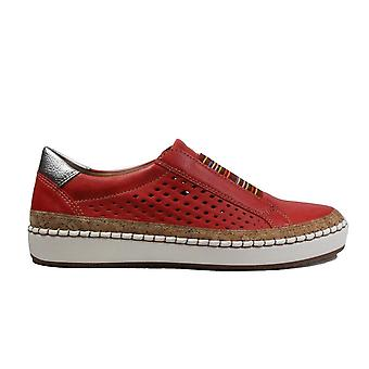 Ara Dublin 53234-77 Red Womens Slip On Casual Trainer Shoes