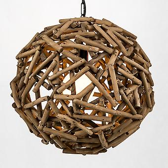 Modern Home Nautical Driftwood Ceiling Pendant Light - 16