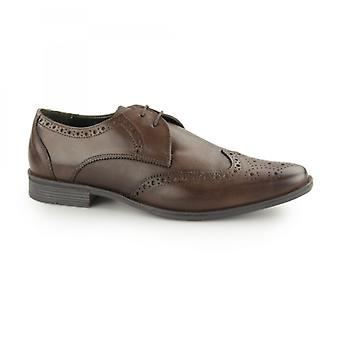 Silver Street London West Mens Leather Smart Brogue Shoes Brown