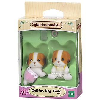 Familii Sylvanian-sifon Dog gemeni jucărie