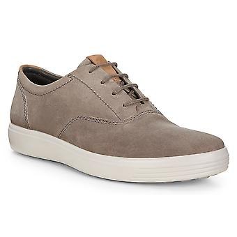 Ecco Mens Soft 7 Oil Nubuck Comfort Leather Light Sneaker Trainers