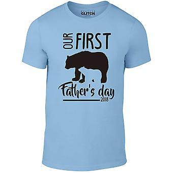Män ' s första fäder Day Bear design t-shirt