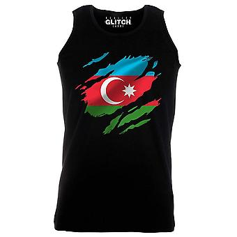 Reality glitch torn azerbaijan flag mens vest