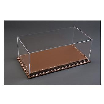 Luxury Brown Leather Stitched Base Display Case