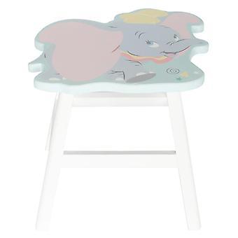 Banquinho de madeira em forma de Dumbo