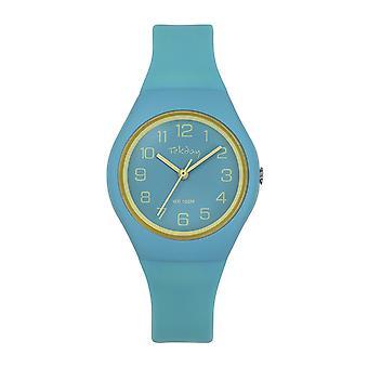 Tekday Watch 654631-silikoni vihreä laatikko ranne koru silikoni keltainen Junior sekoitettu