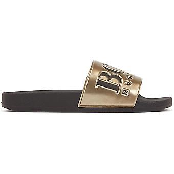 Hugo Boss Footwear Solar_slid Black/gold Slider