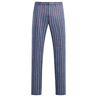 Allthemen Hombres's Pantalones Casuales De rayas Pantalones Rectos Fit Pantalones Traje
