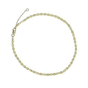 14k Yellow Gold Fancy Valentino Chain Adjustable Anklet 10 Inch Jewelry Gifts for Women