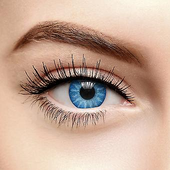 Lentilles de contact de couleur solaire bleue (quotidiennement)