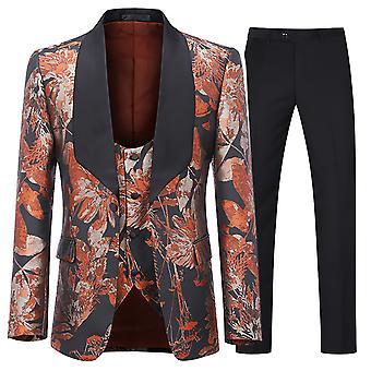 Allthemen Men's Tuxedos Suit 3-Pieces Wedding Banquet Blazer&Pants&Vest