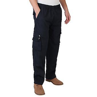 KRISP Mens Army Cargo Combat Military Pants Pants Plain Casual Work Waist 28