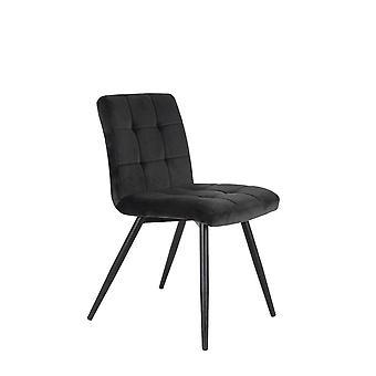 Light & Living Dining Chair 49x57x84cm Olive Velvet Dark Grey