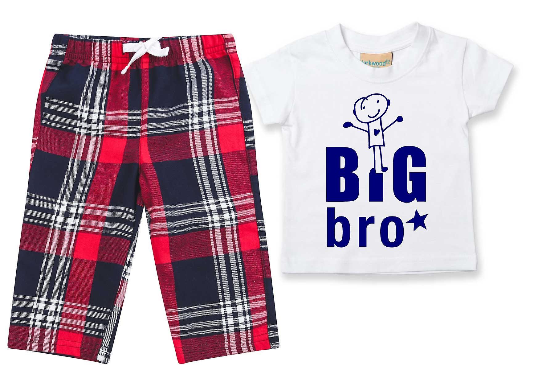 Big Bro Tartan Trouser Pyjamas
