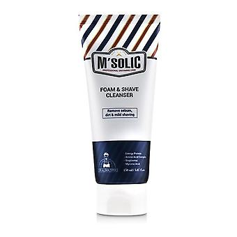 SNP M'Solic Foam & Shave Cleanser - Remove Sebo, Dirt & Mild Shaving 150ml/5.07oz