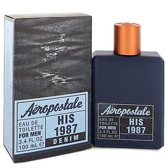 Aeropostale hans 1987 denim eau de toilette spray af aeropostale 549551 100 ml