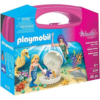 Playmobil 9324 Large Princess Magical Mermaids Carry Case 46PC Playset