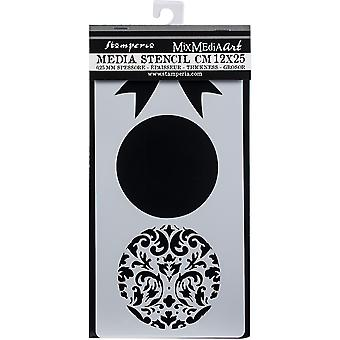 Stamperia Paksu Stencil pallot