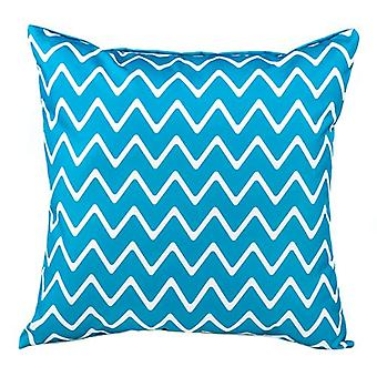 """Chevron Teal 24"""" / 60cm Large Outdoor Water Resistant Scatter Cushion Garden"""