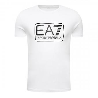 EA7 Emporio Armani Box Logo T-Shirt White 8NPT10 PJNQZ