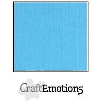 CraftEmotions papelão de linho 10 Sh aqua 30,0x30,0cm / LC-26