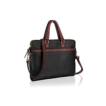 City-smart genuine leather zipped messenger handbag by Woodland Leathers
