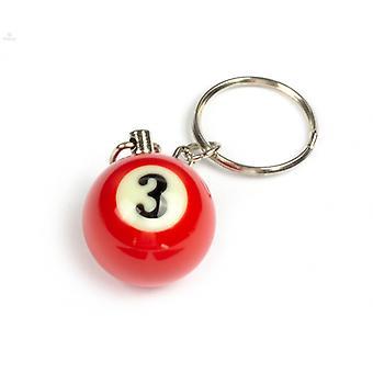 Nøkkelring/nøkkelring Biljard ball (ingen #3)
