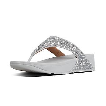 FitFlop Lulu Glitter™ sandalias de punta en plata