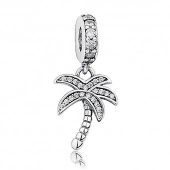 Sterling Silver Pendant Charm Palm Tree - 5885