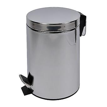 Stanford Home Unisex 5L Uniless Steel Pedal Bin Stanford Home Unissex 5L Aço Inoxidável Pedal Bin